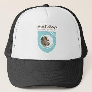 Great Escape Mustang Sanctuary Full Logo Trucker C Trucker Hat