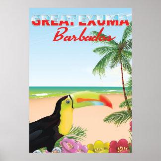 Great Euxma Barbados travel poster