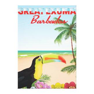 Great Euxma Barbados travel poster Canvas Print