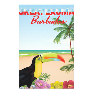 Great Euxma Barbados travel poster Stationery