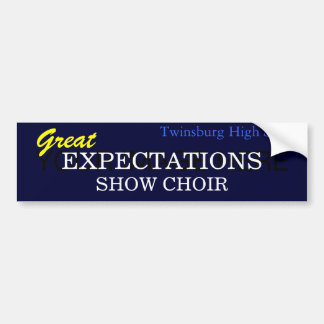 Great Expectations Bumper Sticker