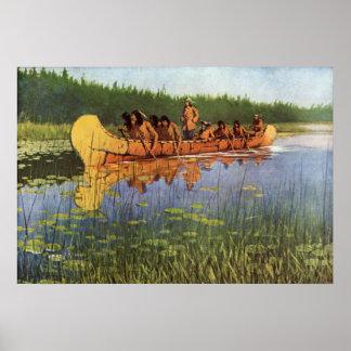 Great Explorers by Remington Vintage Frontiersmen Poster