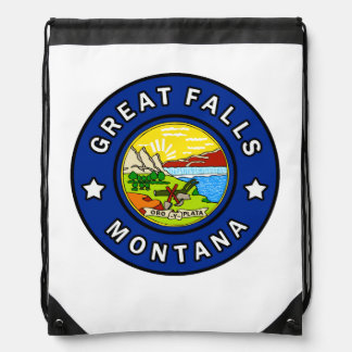 Great Falls Montana Drawstring Bag