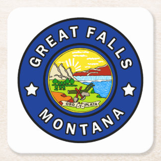 Great Falls Montana Square Paper Coaster