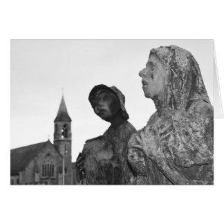 Great Famine of Ireland statues in Dublin Card