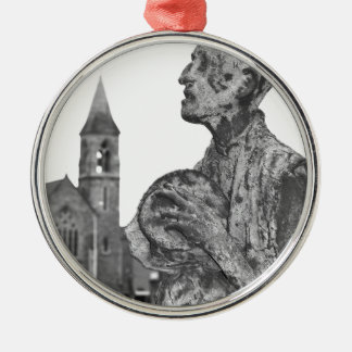 Great Famine of Ireland statues in Dublin Silver-Colored Round Ornament