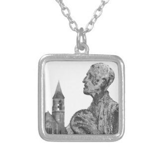 Great Famine of Ireland statues in Dublin Silver Plated Necklace