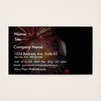 Great Fireworks Night Business Card
