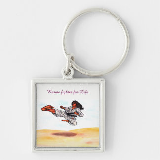 great flying karate master kick keychain