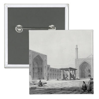 Great Friday Mosque (Masjid-i Djum-ah) in Isfahan, 2 Inch Square Button