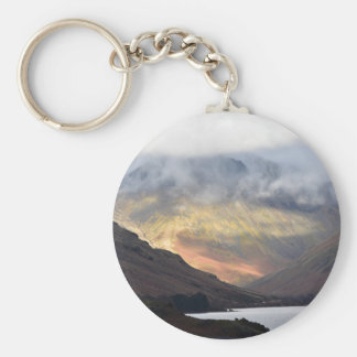Great Gable from Wast Water Basic Round Button Keychain