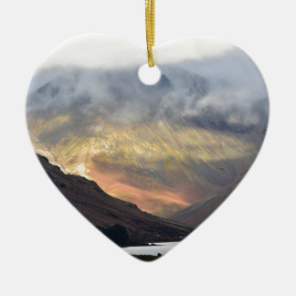 Great Gable from Wast Water Ceramic Heart Ornament
