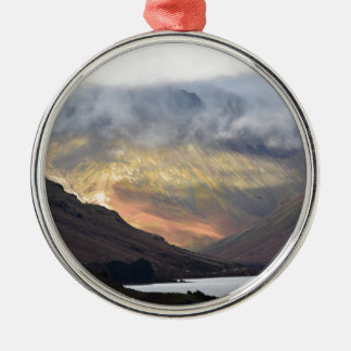 Great Gable from Wast Water Silver-Colored Round Ornament