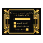 Great Gatsby 1920s Art Deco Wedding RSVP Card