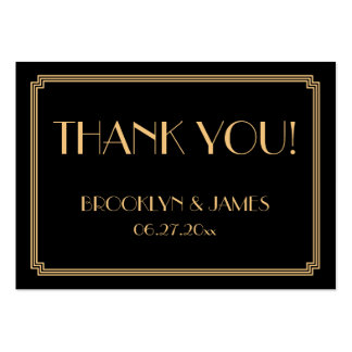 Great Gatsby Art Deco Black Wedding Favor Tags Pack Of Chubby Business Cards