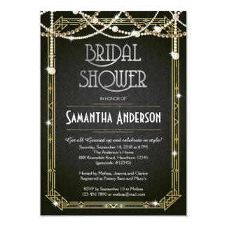 Great Gatsby Bridal Shower invitation / Art Deco