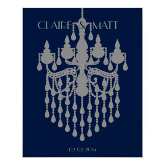Great Gatsby chandelier wedding signing guest book Poster
