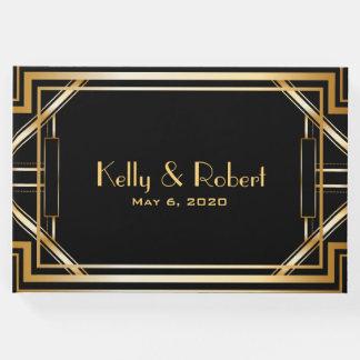 Great Gatsby Inspired Art Deco Wedding Guest Book