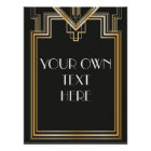 Great Gatsby Inspired Custom Signage Poster