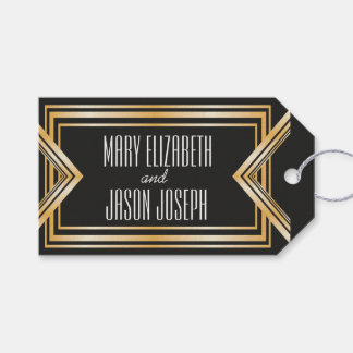 Great Gatsby inspired wedding favors tag Pack Of Gift Tags