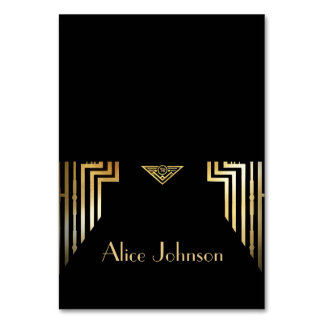 Great Gatsby Style Art Deco Place Card Tent Style Table Cards