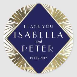 Great Gatsby Thank you Wedding Sticker