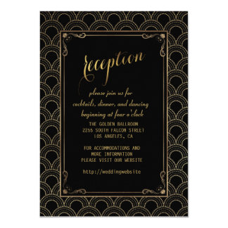 Great Gatsby Vintage 1920s Art Deco Reception Card