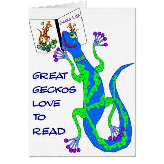 Great Geckos Read Card
