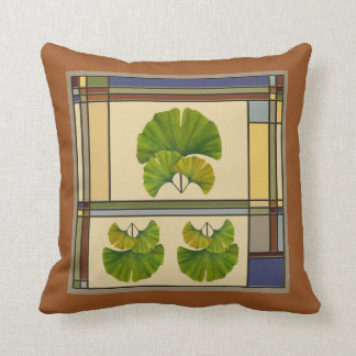 Great Ginkgo Art for Your Arts & Crafts Bungalow Throw Pillow