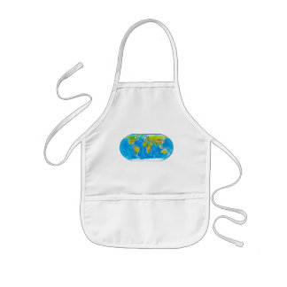 Great global graphic! kids apron
