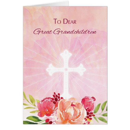 Great Grandchildren Religious Easter Blessings Card