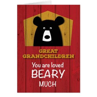 Great Grandchildren, Valentine Bear Wishes Card