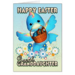 Great Granddaughter Easter Card - Cute Duck With B