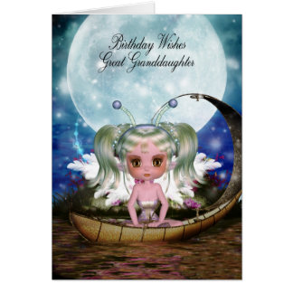 Great Granddaughter Magical Water Fairy Birthday Card