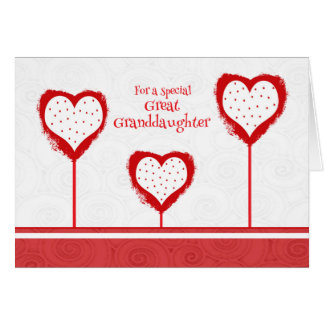 Great Granddaughter Valentine's Day Card