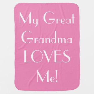 Great Grandma Loves Me Baby Blanket - Pink