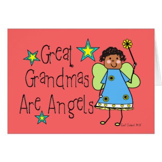 Great Grandmas Are Angels Gifts (Afro-American) Greeting Card