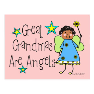 Great Grandmas Are Angels Gifts (Afro-American) Postcard