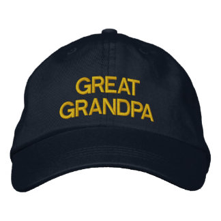 Great Grandpa embroidered cap Embroidered Hat