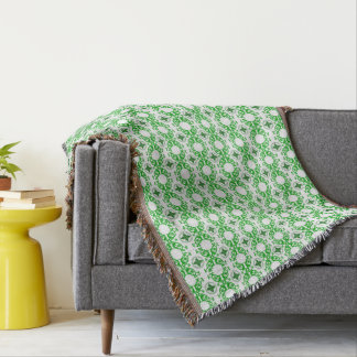 Great Grandpa Green Geometric Celtic Throw Blanket