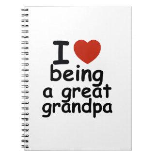 great grandpa spiral note book