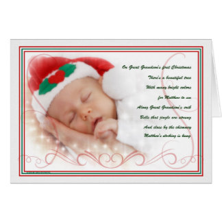 Great Grandson's 1st Christmas Poem with Name Card
