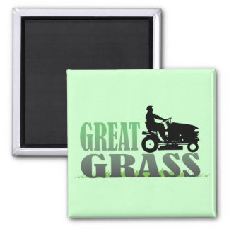 Great Grass Square Magnet