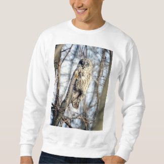 Great Gray Owl - Creamy Brown Watcher Sweatshirt