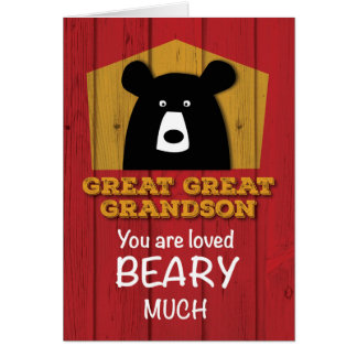 Great Great Grandson, Valentine Bear Wishes Card