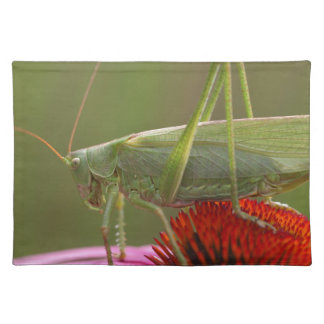 Great Green Bush-Cricket  (Tettigonia viridissima) Place Mat