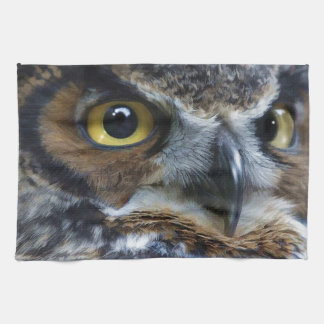 Great Grey Owl Eyes Wildlife Tea-Towel Kitchen Towel