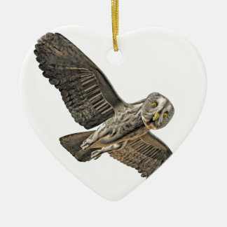 Great Grey Owl Christmas Tree Ornaments