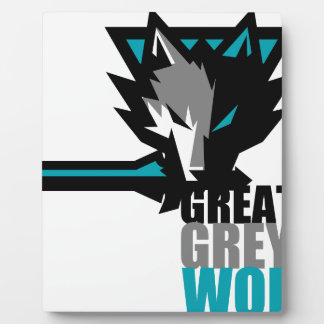 Great Grey Wolf Plaque