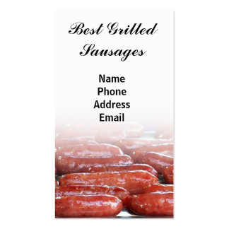 Great Grilled Sausages Business Card